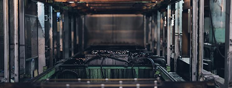 カチオン電着塗装のバナー